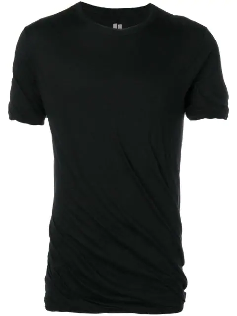 Rick Owens Sysyphus Double T-shirt In Black
