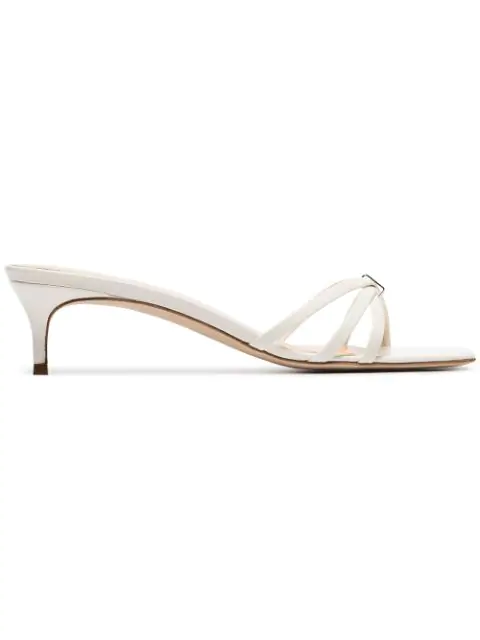 By Far White Libra 45 Leather Mules