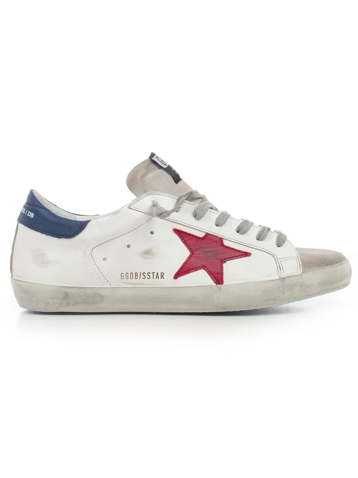 ff8a9f87dfe4 Golden Goose Deluxe Brand Superstar Sneakers In White Leather Red Star