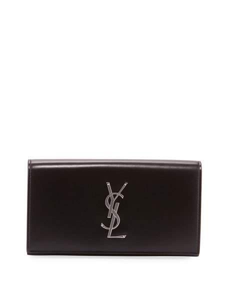 1b0da487c3 Men'S Ysl Logo Flap Wallet, Black