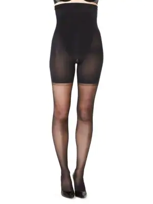 68572b0161f Spanx Luxe Leg High Waisted Sheer Tights In Black