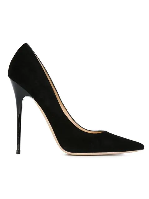 Jimmy Choo Kayomi Suede & Patent Leather Point-Toe Pumps In Black
