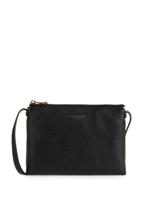 Marc Jacobs Grained Leather Crossbody Bag In Black