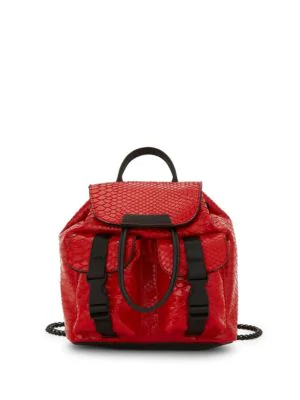 Kendall + Kylie Textured Drawstring Backpack In Red