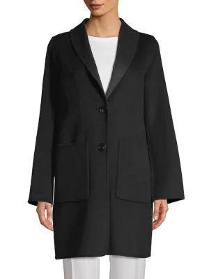T Tahari Jenn Reversible Coat In Black