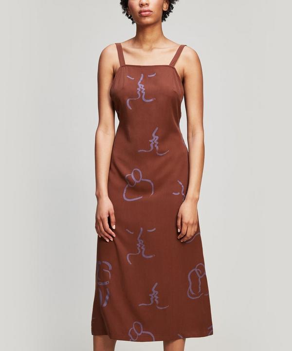 6cde0063ead72 Paloma Wool Lava Midi-Dress In Brown | ModeSens