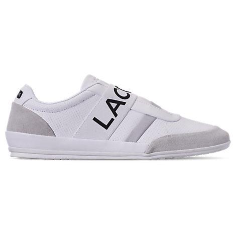 lacoste men's misano elastic slipon casual shoes in white