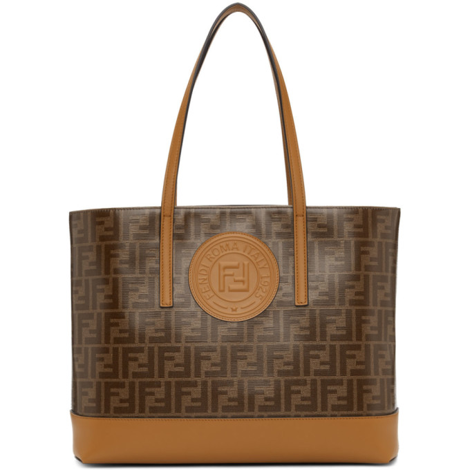 Fendi Brown Forever  Tote In F15Wy Camel