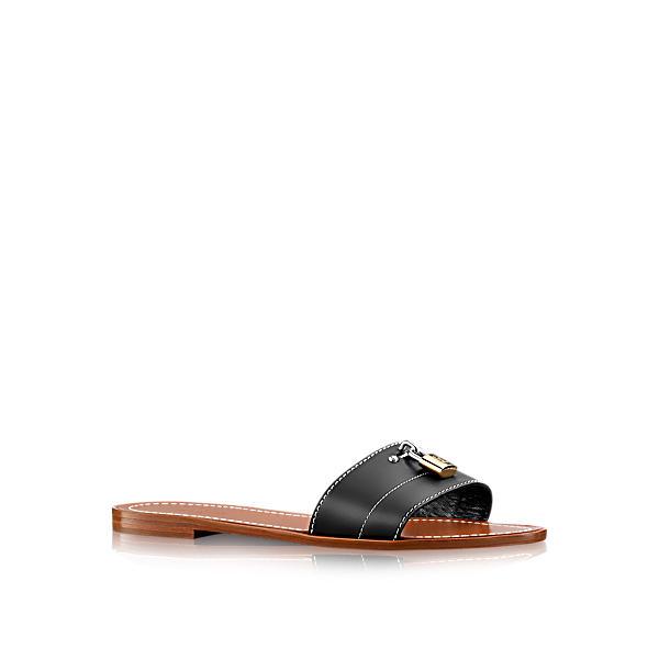36714d788594 Louis Vuitton Lock It Flat Mule In Noir