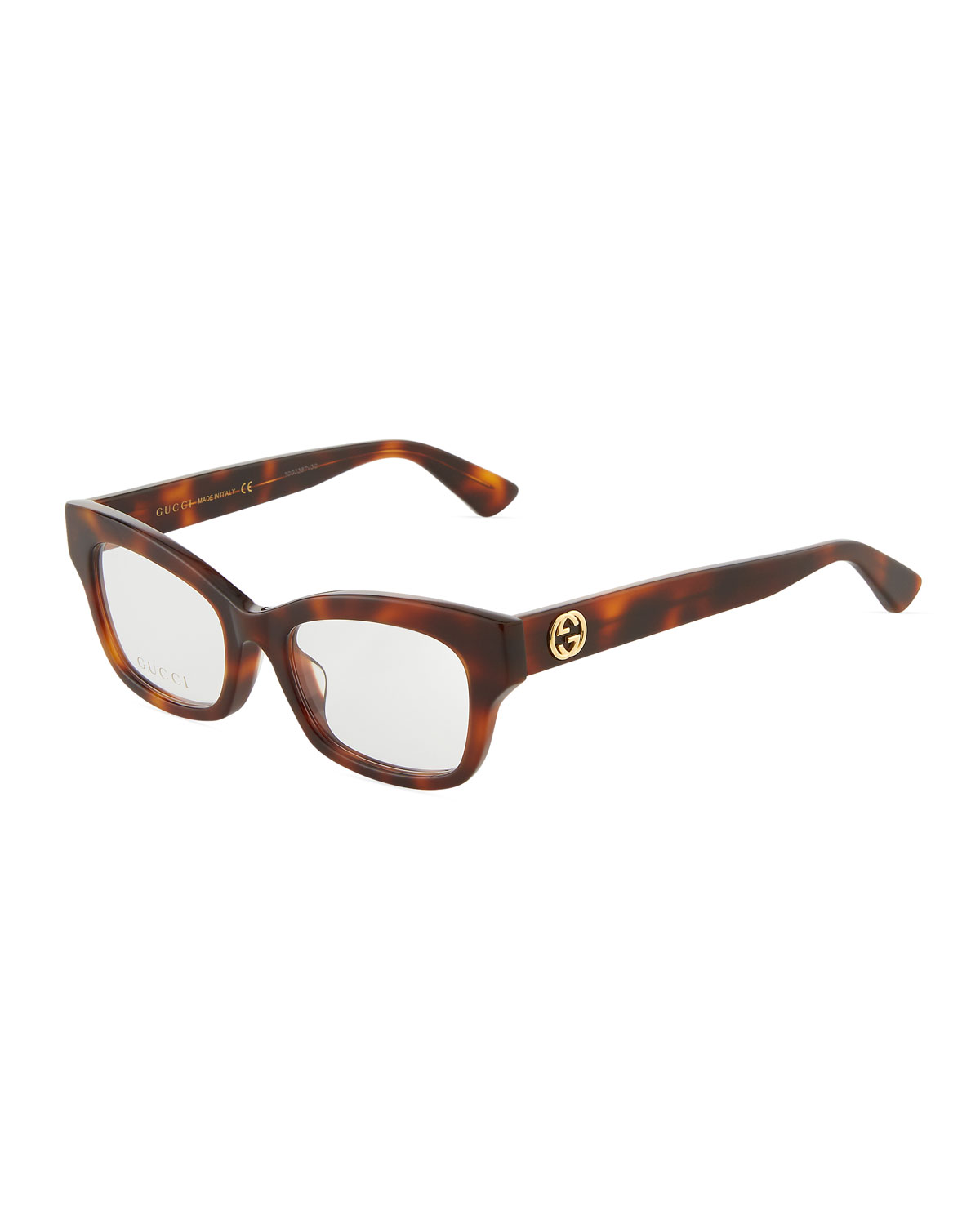 5134267e127b7 Gucci Square Cat-Eye Acetate Optical Glasses In Brown