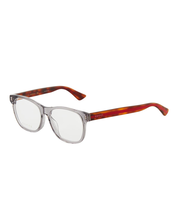 6da7d74100bf Gucci Square Semi-Translucent Acetate Optical Glasses In Gray