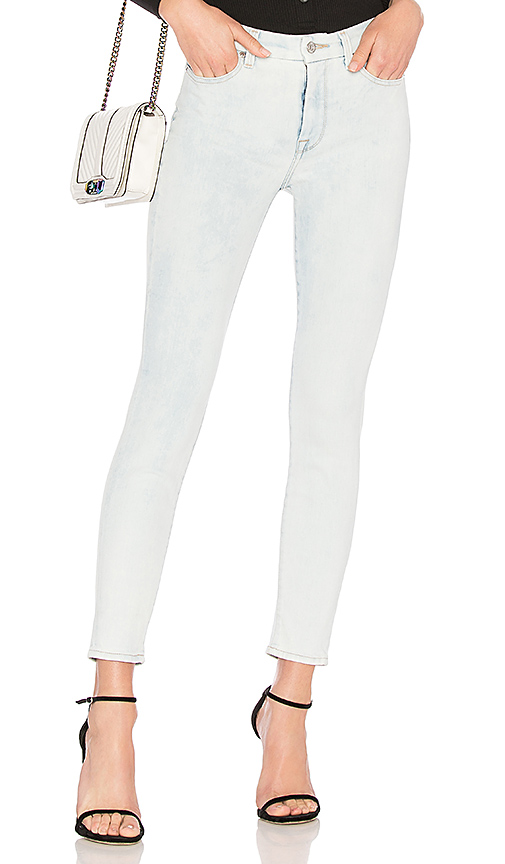 7 For All Mankind Hw Ankle Skinny Jean In Blue