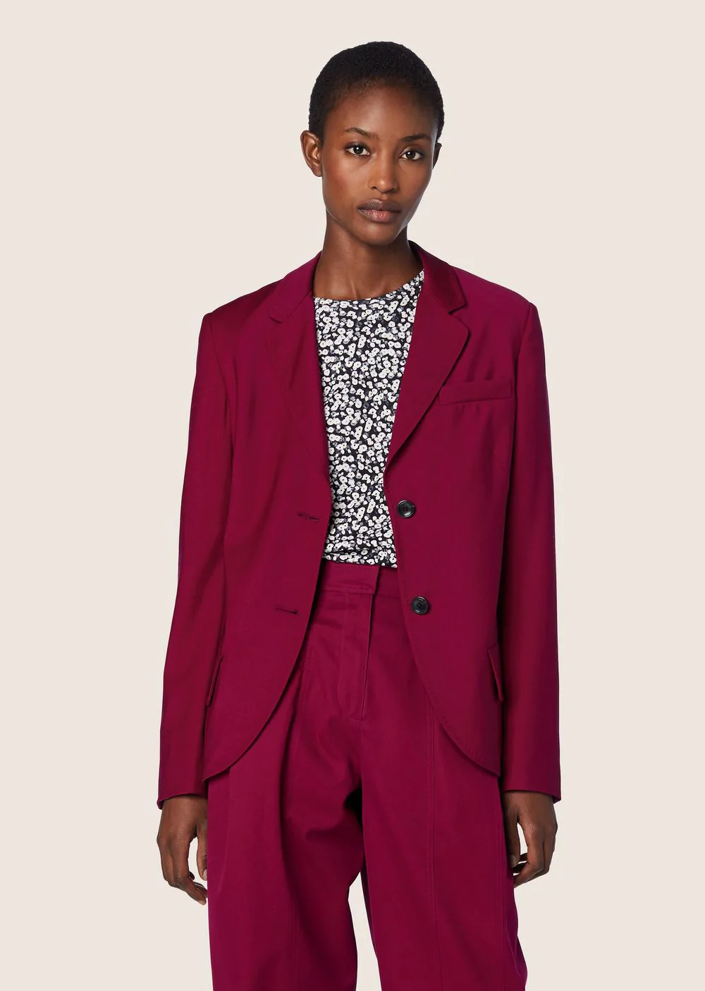 Derek Lam Tropical Wool Blazer In Pink