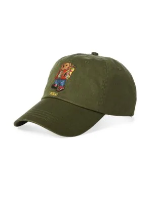 b19731868 Polo Ralph Lauren Great Outdoors Bear Baseball Cap In Olive   ModeSens