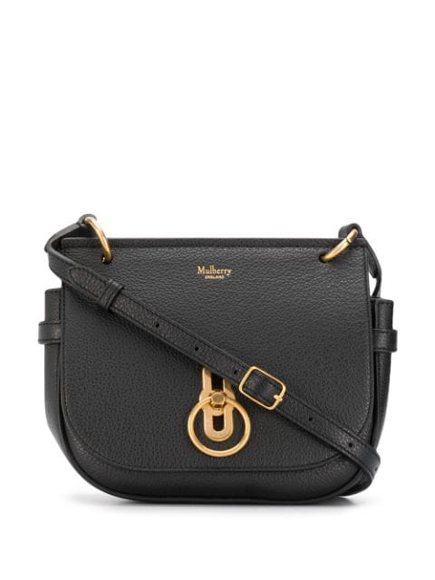 Mulberry Small Amberley Leather Crossbody Bag In Black