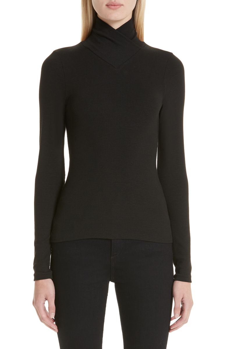Beaufille Chunky Rib Top In Black