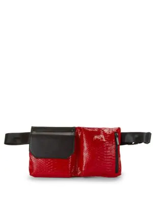 Kendall + Kylie Textured Belt Bag In Red
