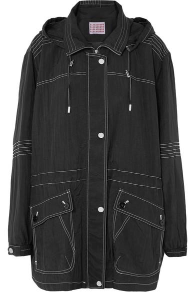 Alexa Chung Hooded Shell Jacket In Black