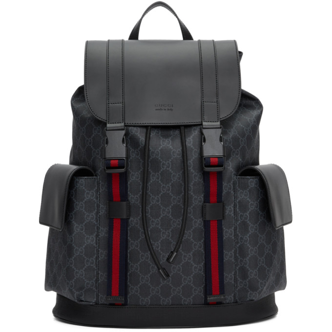 6f19cad5caa8 Gucci Black Soft Gg Supreme Backpack In 1071 Black | ModeSens