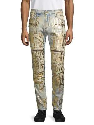 Robin's Jean Metallic-print Skinny Jeans In Vagabon