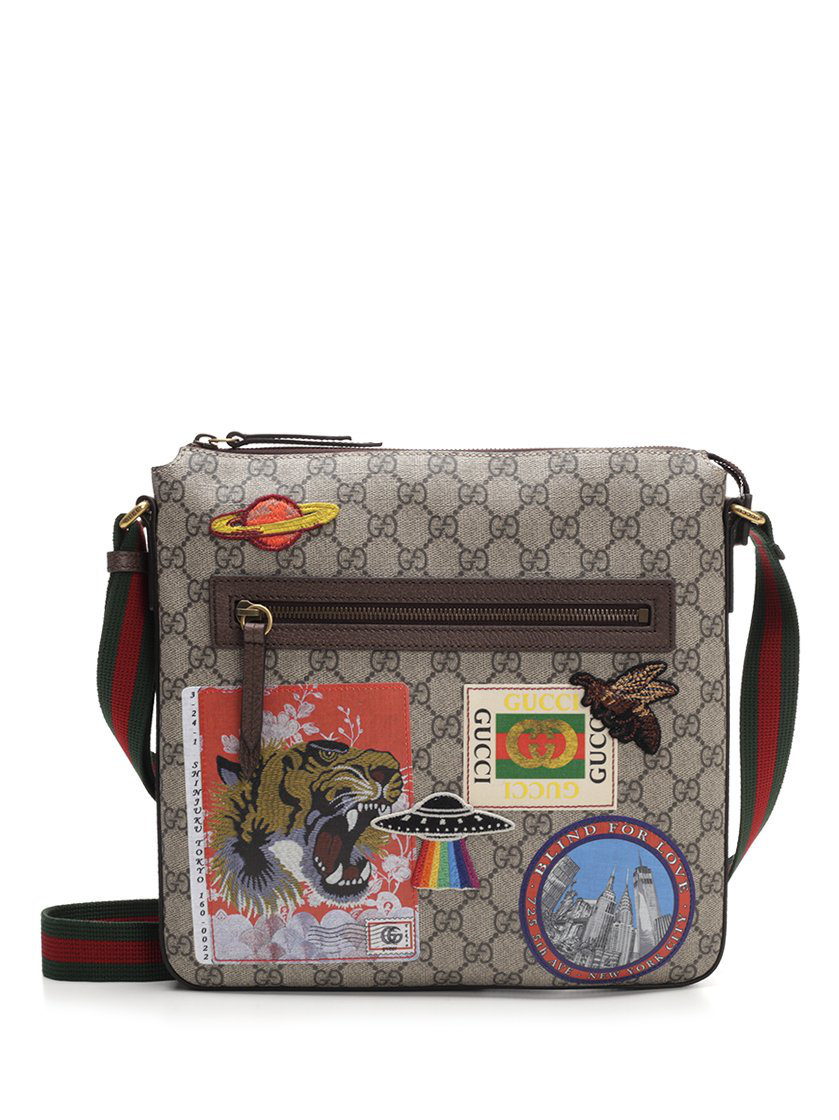 c40b7ddea52 Gucci Logo Patches Messenger Bag In Multi