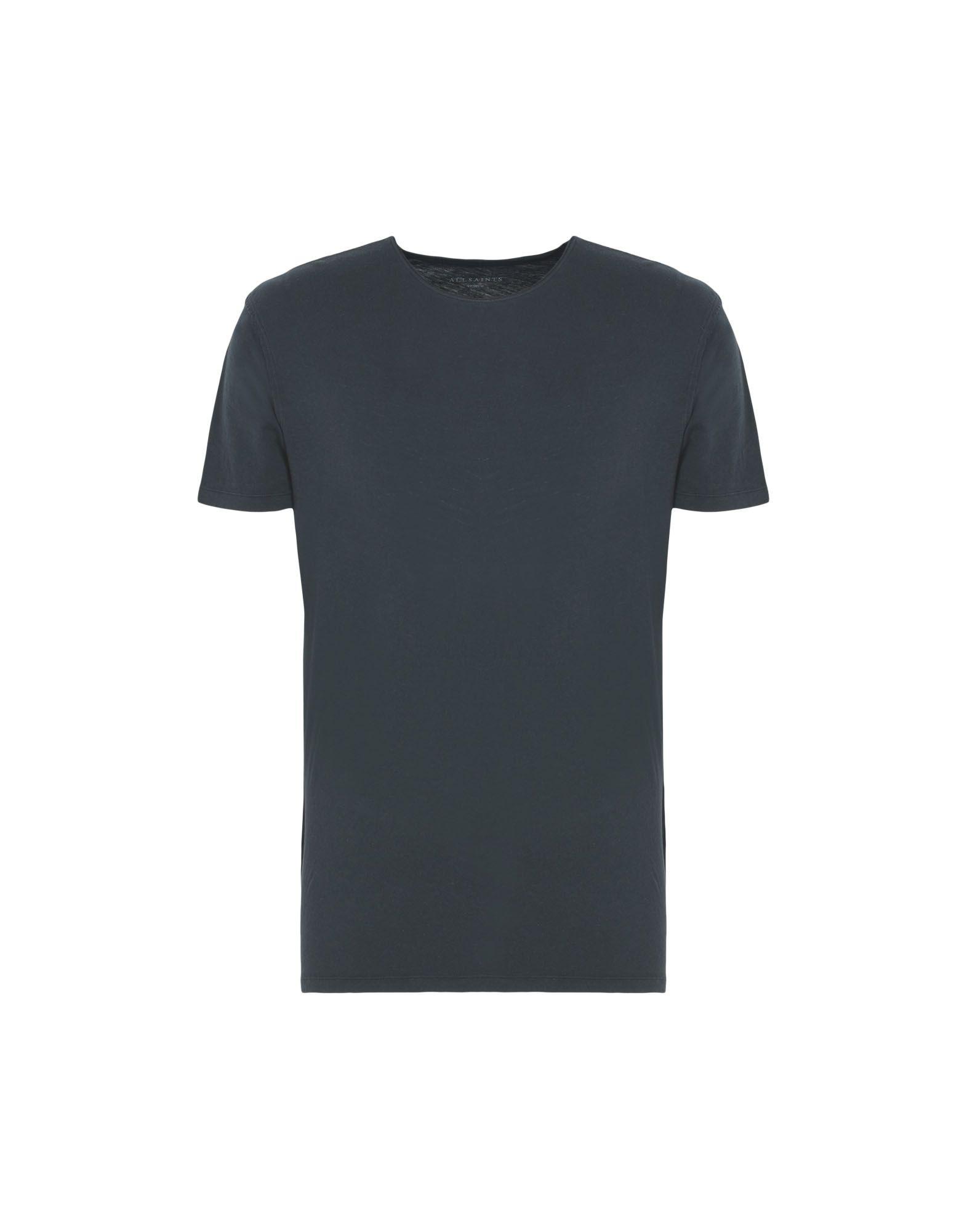 Allsaints Figure Cotton T-Shirt In Blue