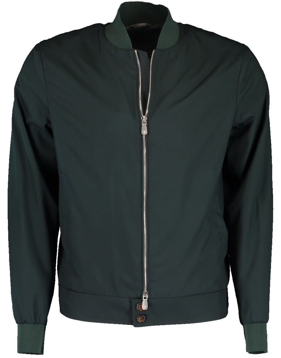 40b27274f Silk Water Resistant Bomber in Green