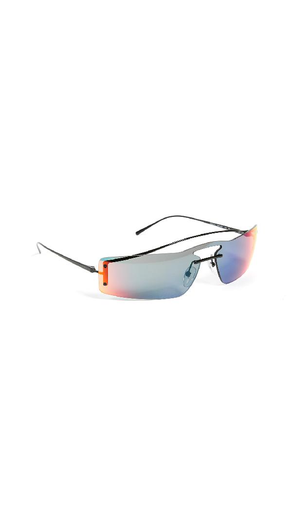 Prada Pr 61Vs Runway Rainbow 90's Skinny Rectangle Sunglasses In 黑色