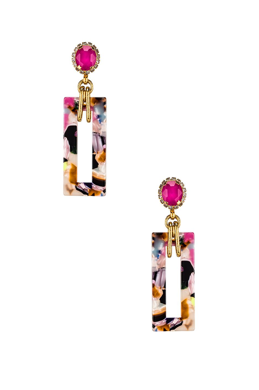 Elizabeth Cole Gaylen Drop Earrings In Multi