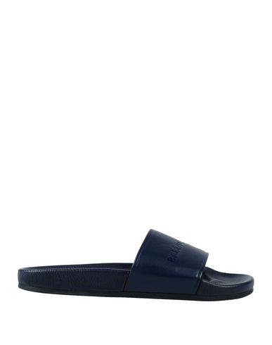 Balenciaga Sandals In Dark Blue