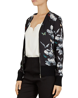27ab90aaa111 Ted Baker Steyani Narrnia Zip Cardigan In Black