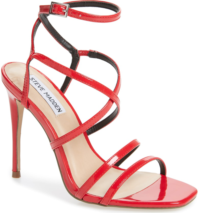 d5b1d95489f Amora Strappy Sandal in Red Patent Leather