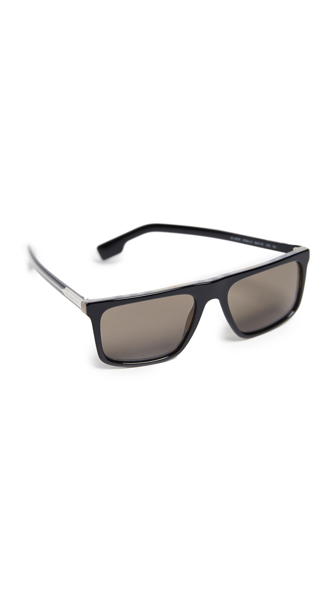efdb615e617f Burberry Flat Top Sunglasses In Black/Brown   ModeSens