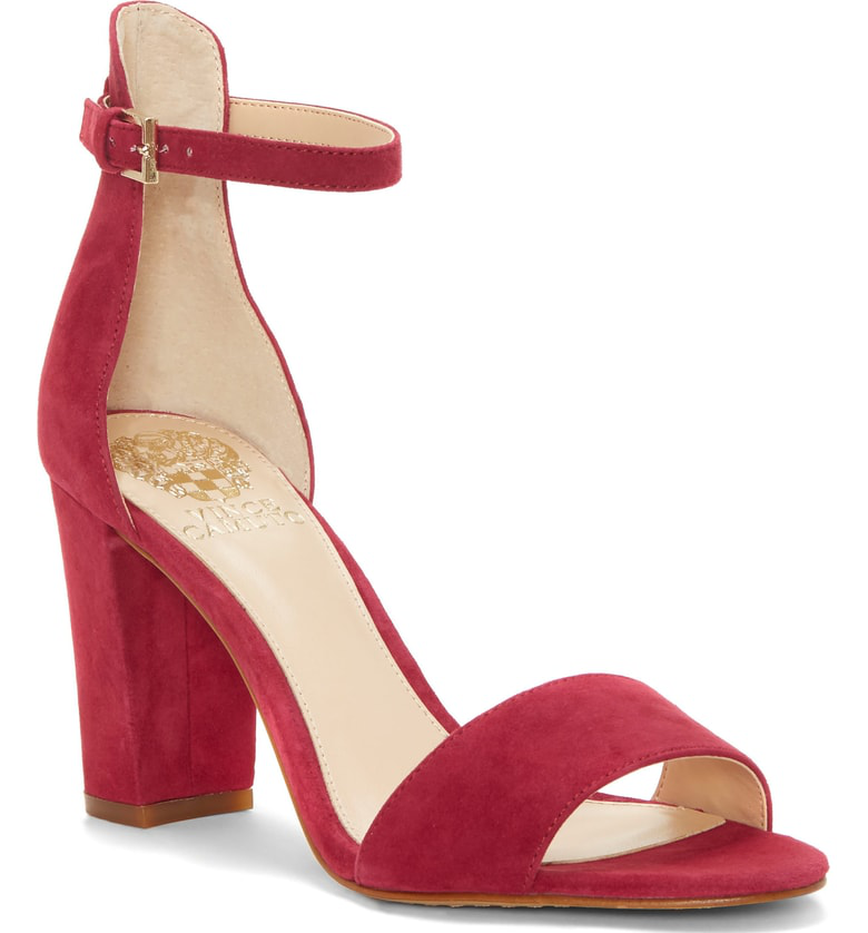 832728555e4e Vince Camuto Corlina Ankle Strap Sandal In Sweet Berry Suede