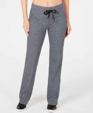Calvin Klein Performance Thermal Pants In Pearl Heather Gray