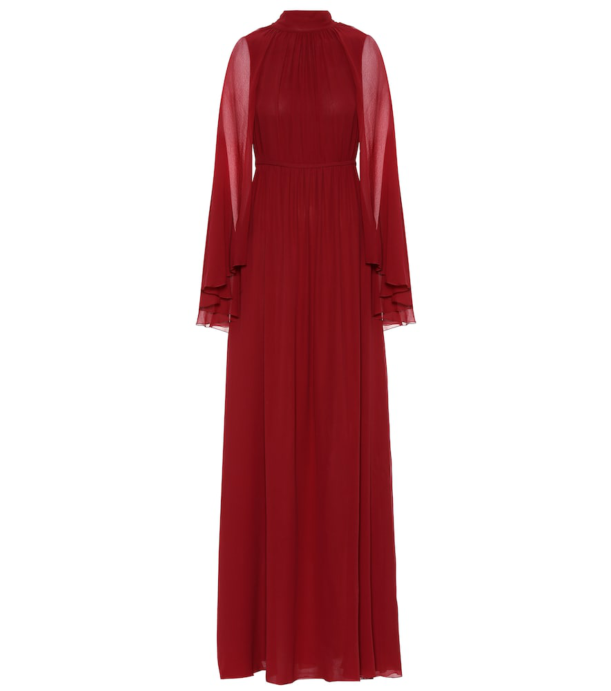 Giambattista Valli Silk Gown In Red