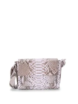 Nancy Gonzalez Python Shoulder Bag In Lilac