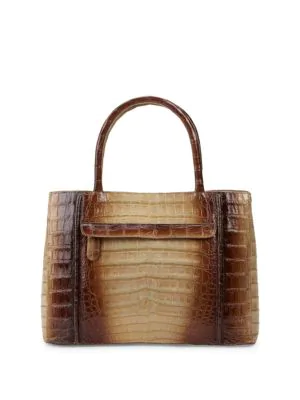 Nancy Gonzalez Crocodile Leather Satchel Bag In Brown