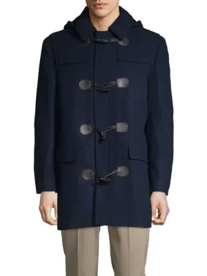 Ralph Lauren Toggle Coat In Indigo