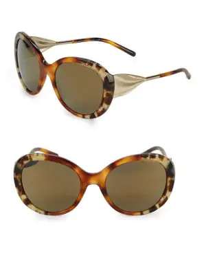 98bc1643fd5b BURBERRY. Mir Tortoiseshell 57Mm Oversized Round Sunglasses in Grey Tortoise