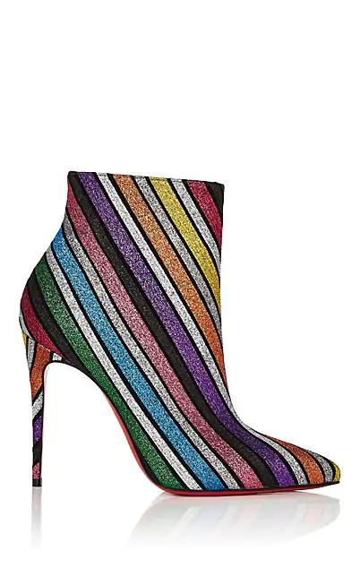 d7d64920ac1 So Kate 100 Stripey Glitter Suede Red Sole Booties, Multi