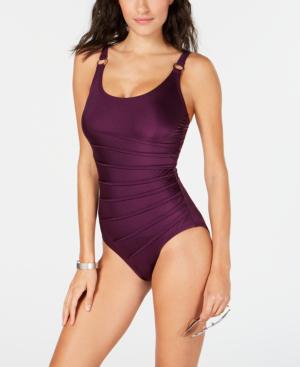 5e646385b3c75 Calvin Klein Starburst One-Piece Swimsuit, Created For Macy's Women's  Swimsuit In Port Shimmer