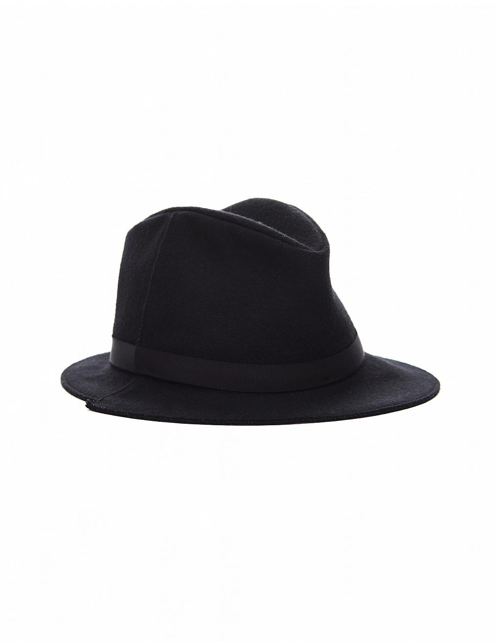 Yohji Yamamoto Black Wool Hat In White