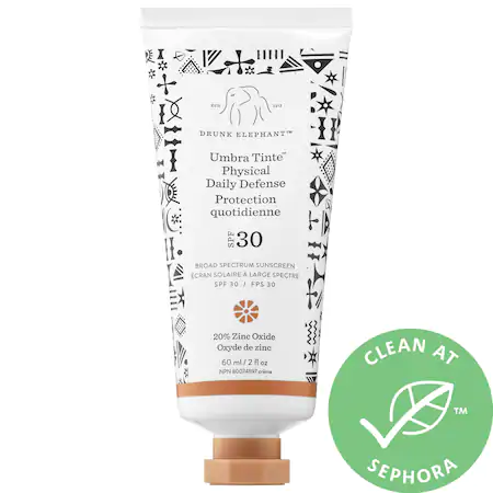 Drunk Elephant Umbra Tinte™ Physical Daily Defense Broad Spectrum Sunscreen Spf 30 2 oz/ 60 ml