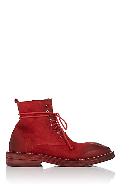 MarsÈLl Suede Ankle Boots In Red