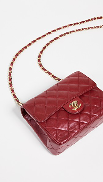 c59472b7a953 What Goes Around Comes Around Chanel Half Flap Mini Bag In Red ...