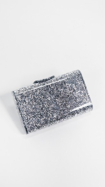 Edie Parker Mini Lara Clutch In Silver