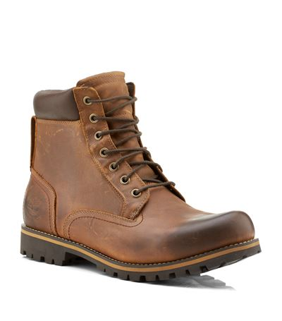 Timberland Rugged Waterproof Plain Toe Boot In Brown