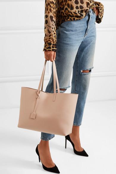 985e7e8bf Saint Laurent Shopper Large Leather Tote In Beige | ModeSens