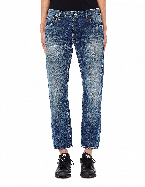 Visvim Social Sculpture 10 Selvedge Jeans In Blue